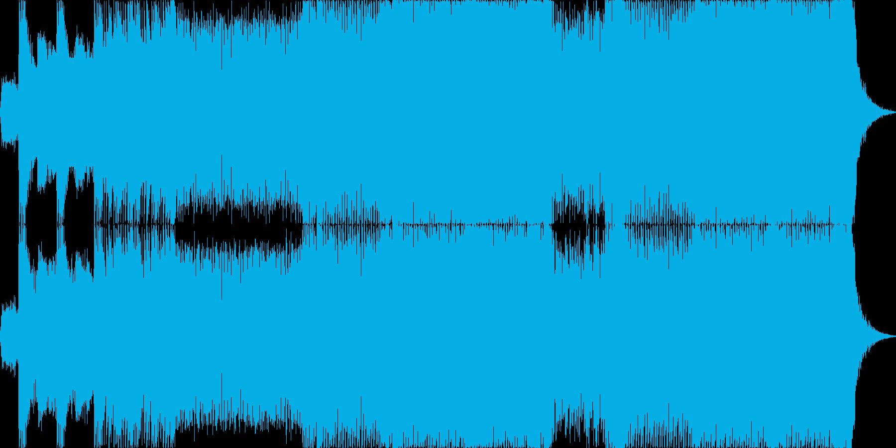 ヘヴィーで攻撃的なエレキギターの再生済みの波形