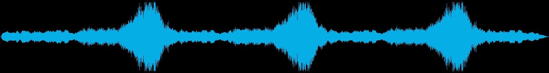 不穏なクレシェンドのあるBGSの再生済みの波形