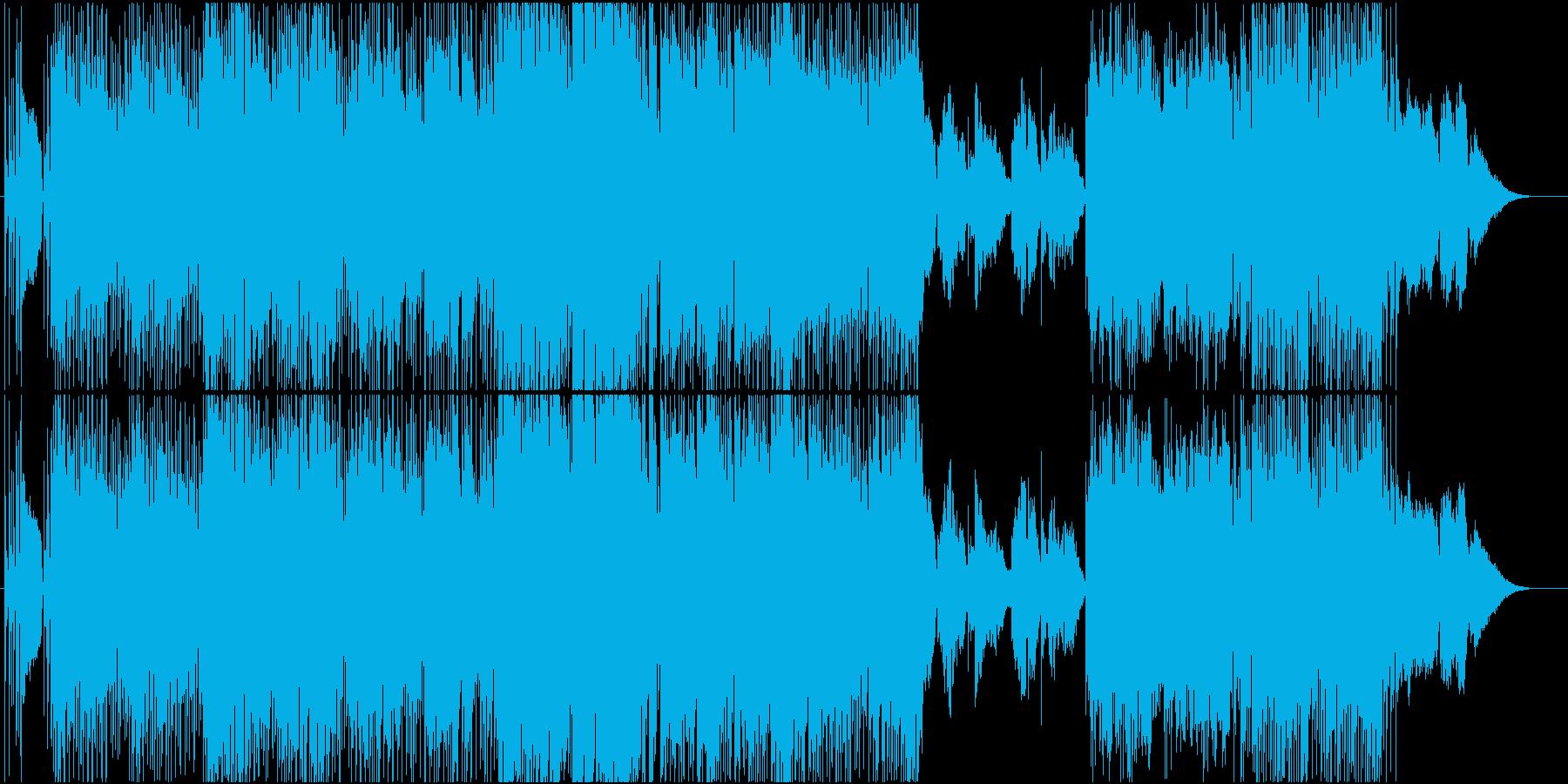ブリティッシュ要素の女性ボーカル英語詞の再生済みの波形