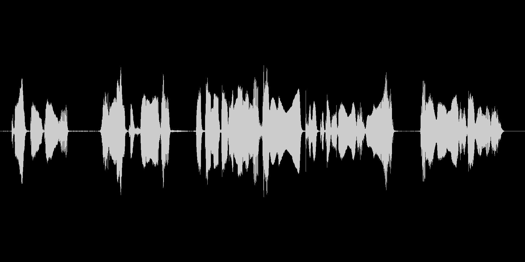 携帯電話スマートフォンなど音の出るもののの未再生の波形
