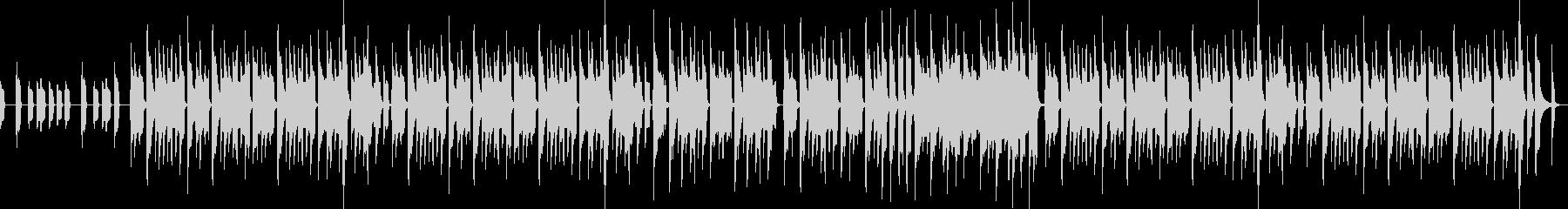 ミニゲーム的な明るいBGMの未再生の波形