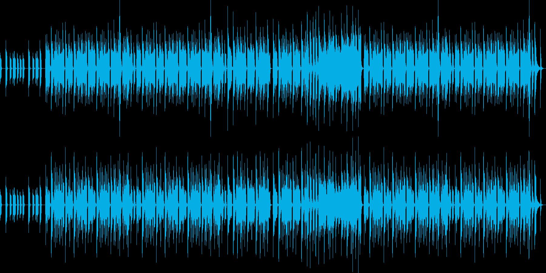 ミニゲーム的な明るいBGMの再生済みの波形