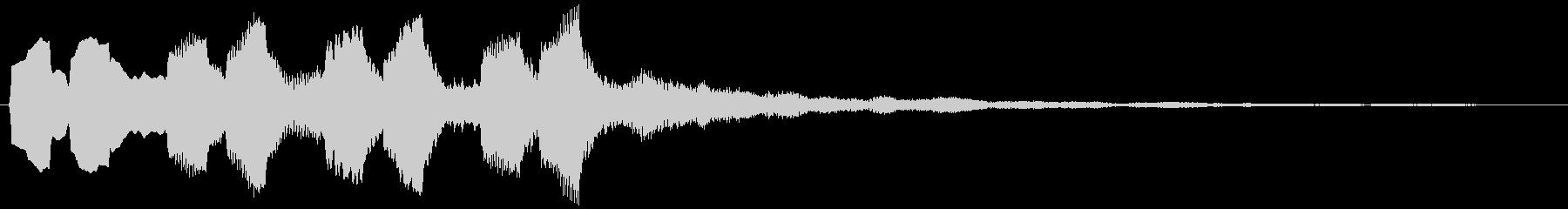 「あなただけの」サウンドロゴ(3秒ロゴ)の未再生の波形