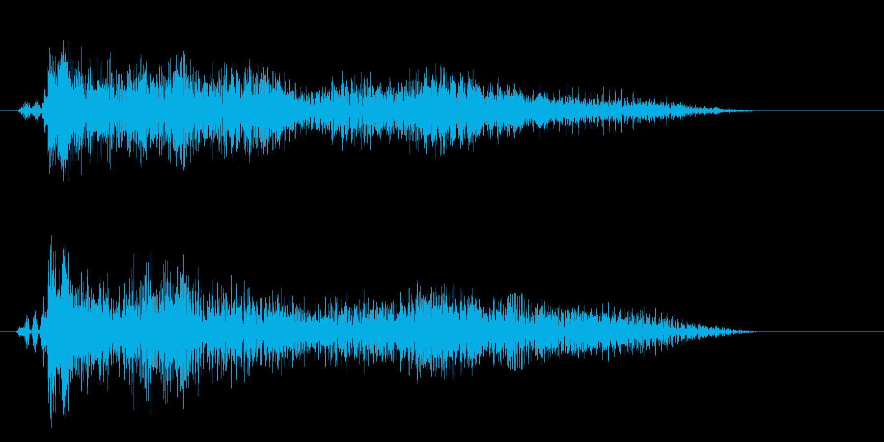 ビュイーン↑(勢いよく跳ね上がる効果音)の再生済みの波形