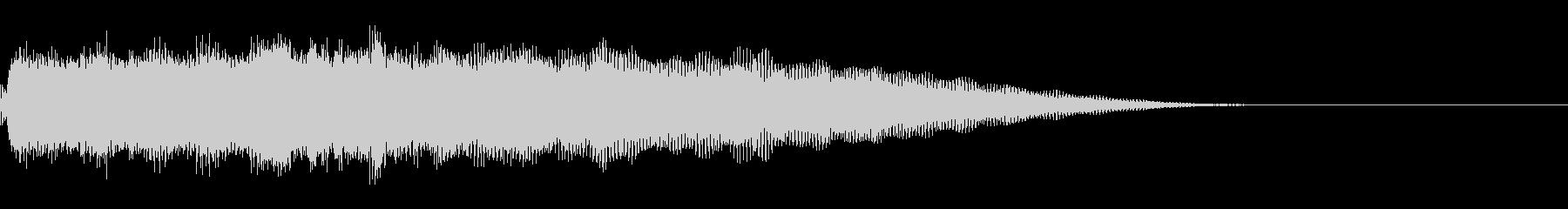 エレキ一本による重厚なジングルの未再生の波形