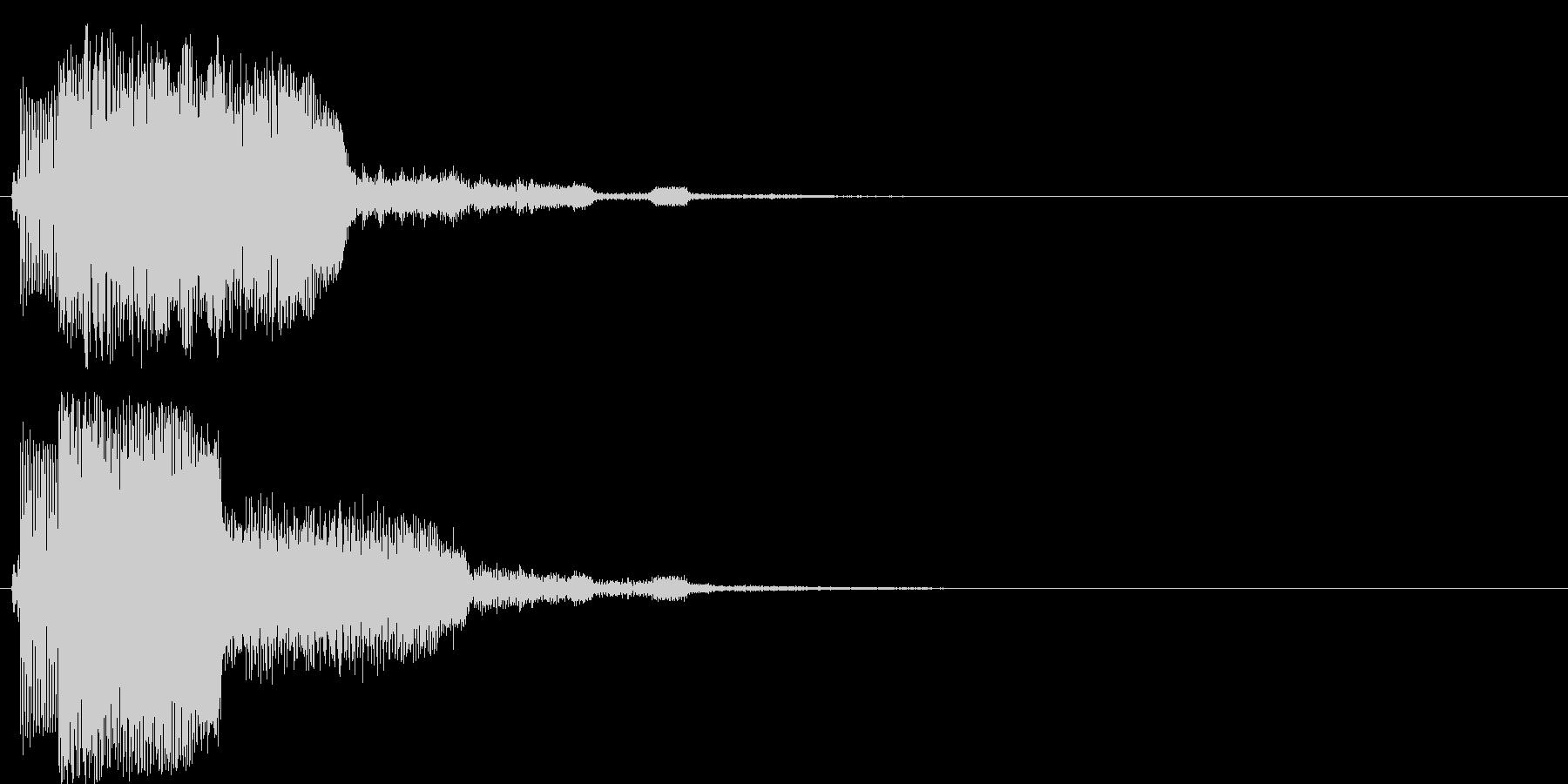上昇系の効果音です。『チャララン』の未再生の波形