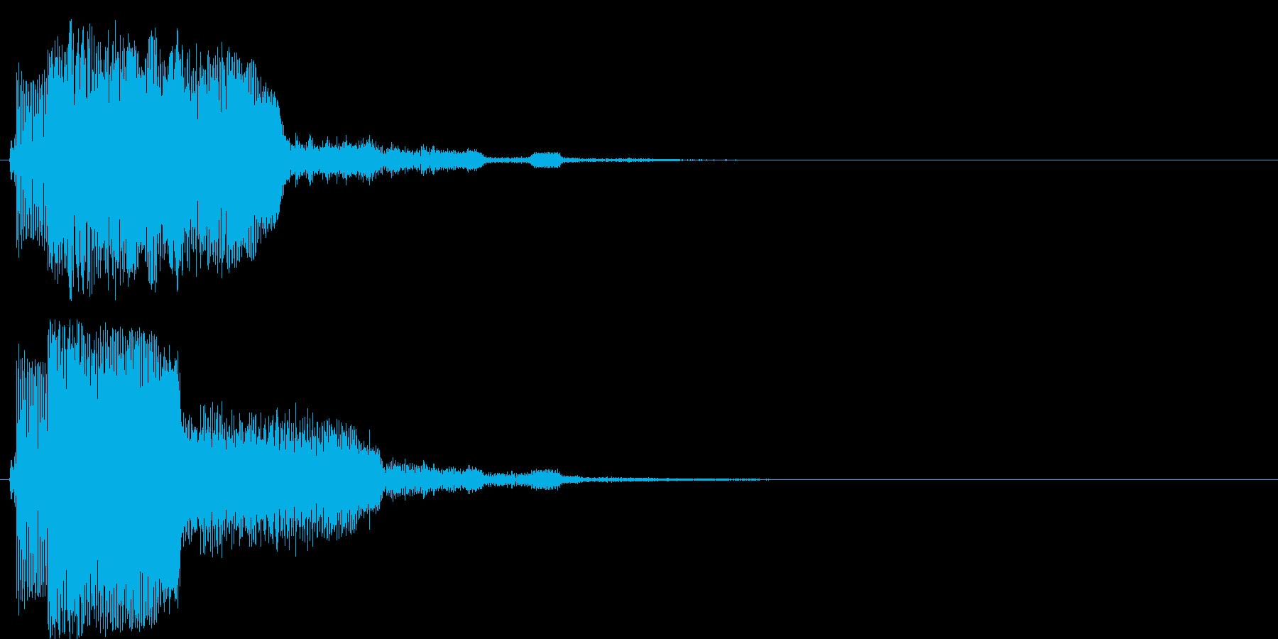 上昇系の効果音です。『チャララン』の再生済みの波形