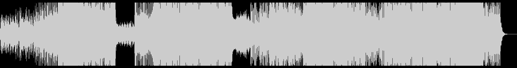 不気味なアンビエント調のテクノポップ2の未再生の波形