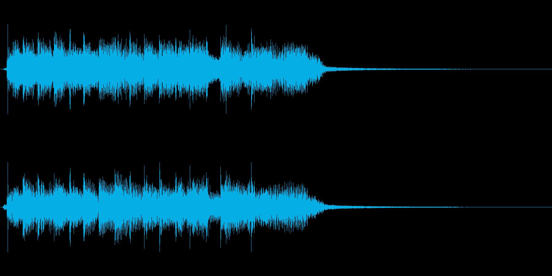 コーナータイトル、ゲーム用のロックリフの再生済みの波形