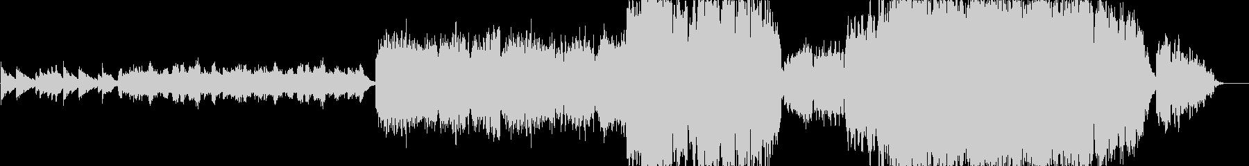 切ないピアノ&オーケストラの未再生の波形