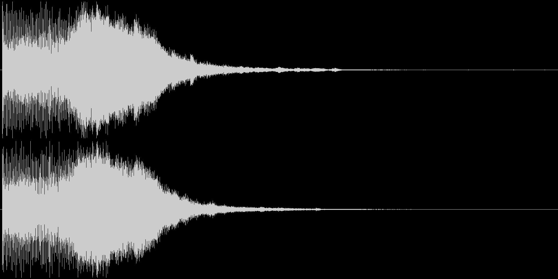 スタイリッシュ・洗練アイキャッチジングルの未再生の波形