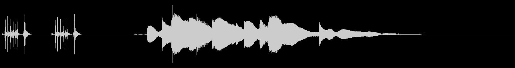 ジングル用オルゴール楽曲11-1の未再生の波形