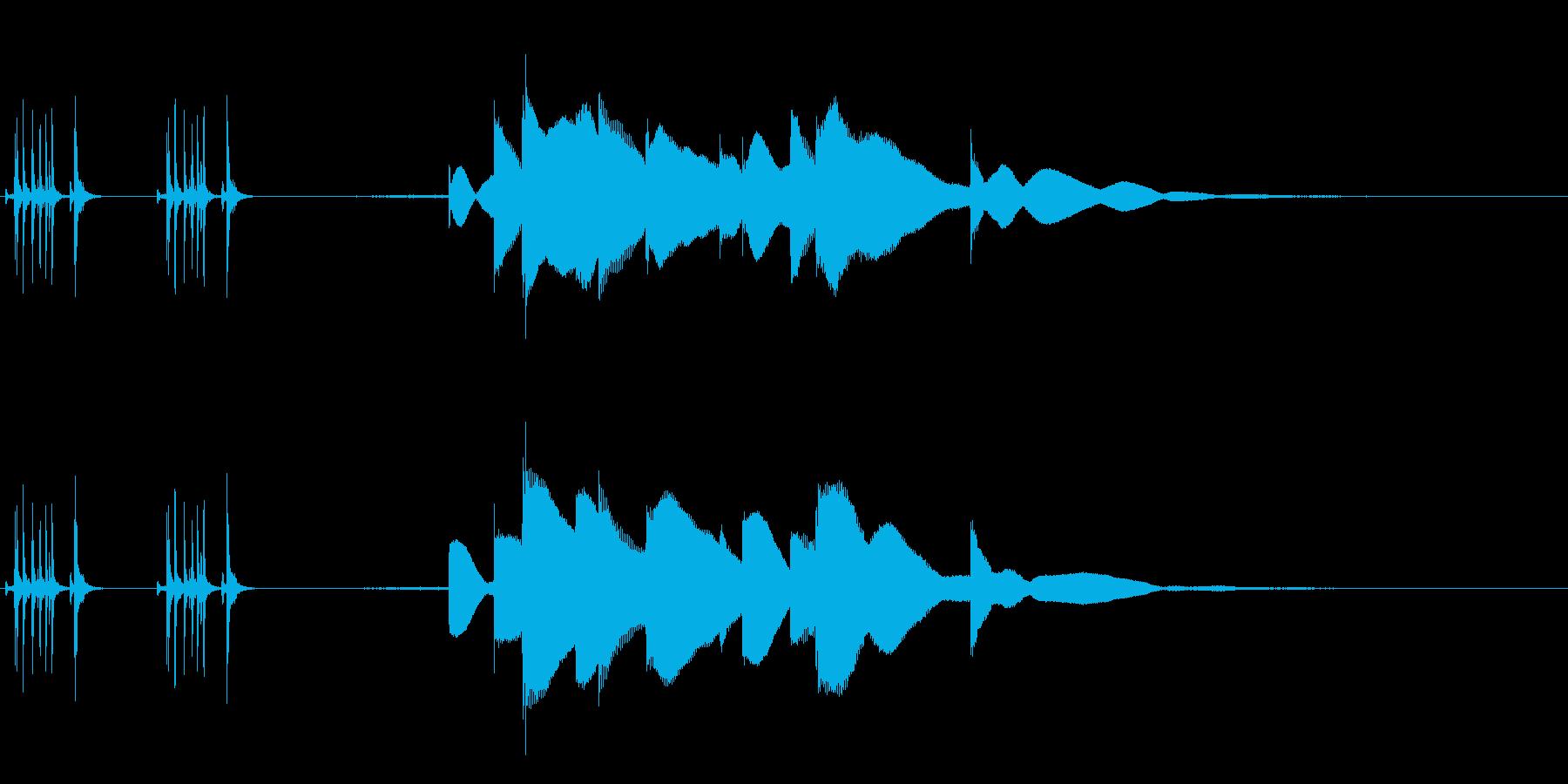 ジングル用オルゴール楽曲11-1の再生済みの波形