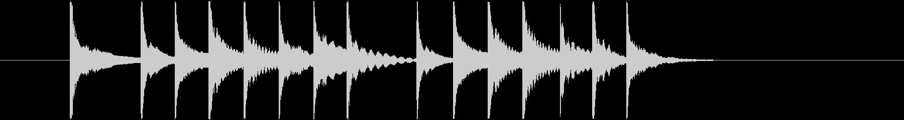 youtubeオープニング風SE 木琴3の未再生の波形
