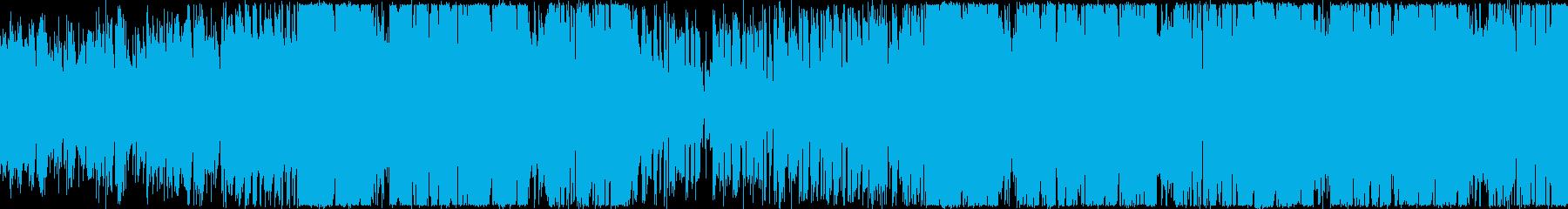 会社紹介・楽しい・わくわく・ファンクの再生済みの波形
