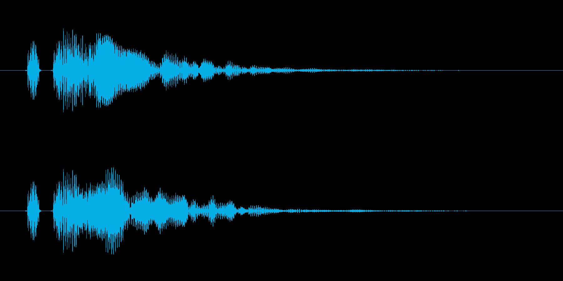 【ポン!】とてもリアルな太鼓の鼓!の再生済みの波形