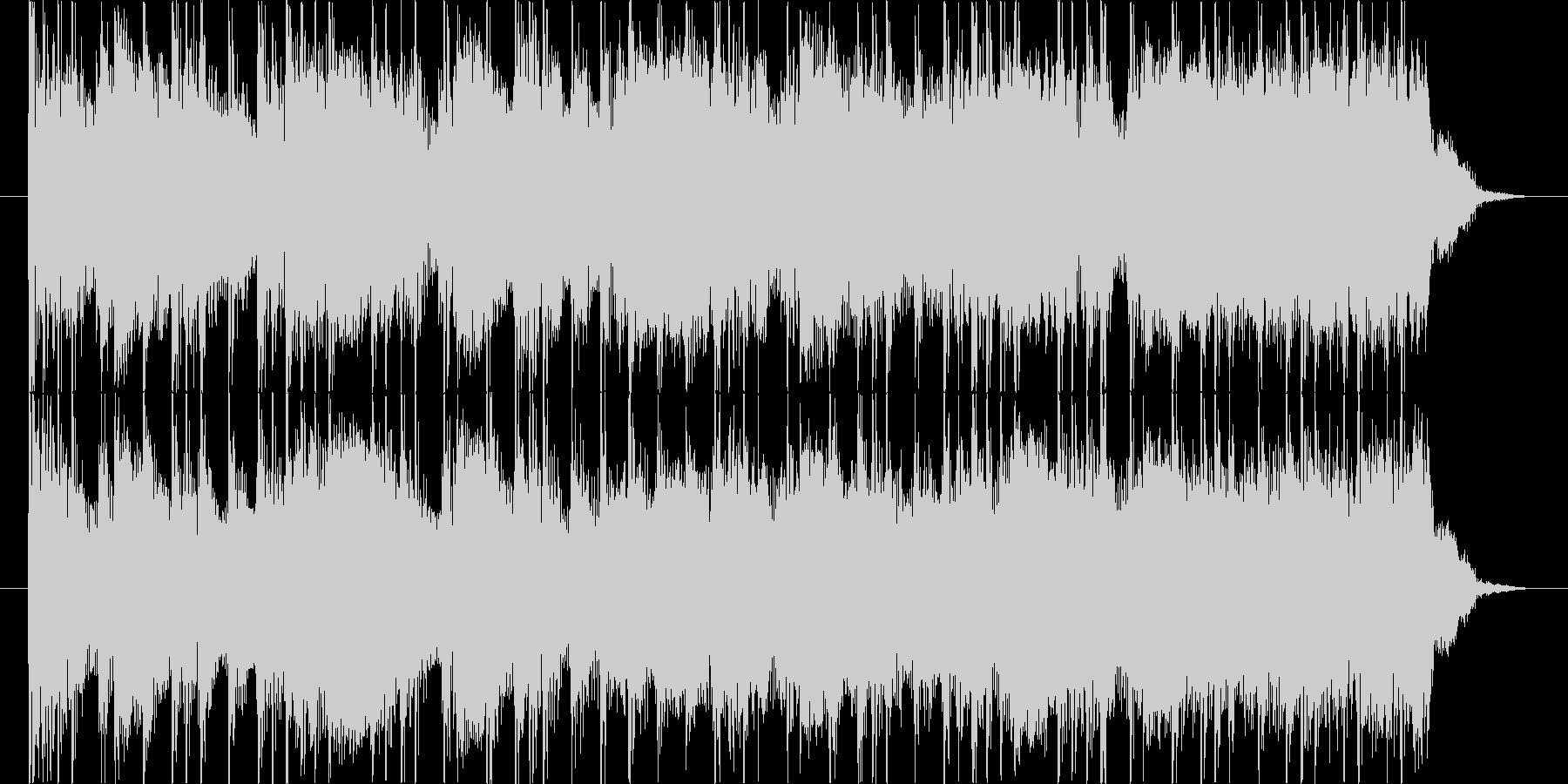 かっこいいメタルのギターリフとソロの未再生の波形