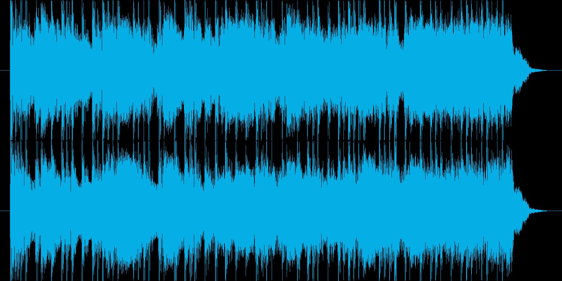 かっこいいメタルのギターリフとソロの再生済みの波形