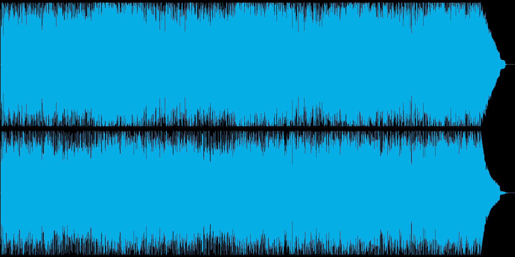 ワイルドなギターがメインのBGMの再生済みの波形