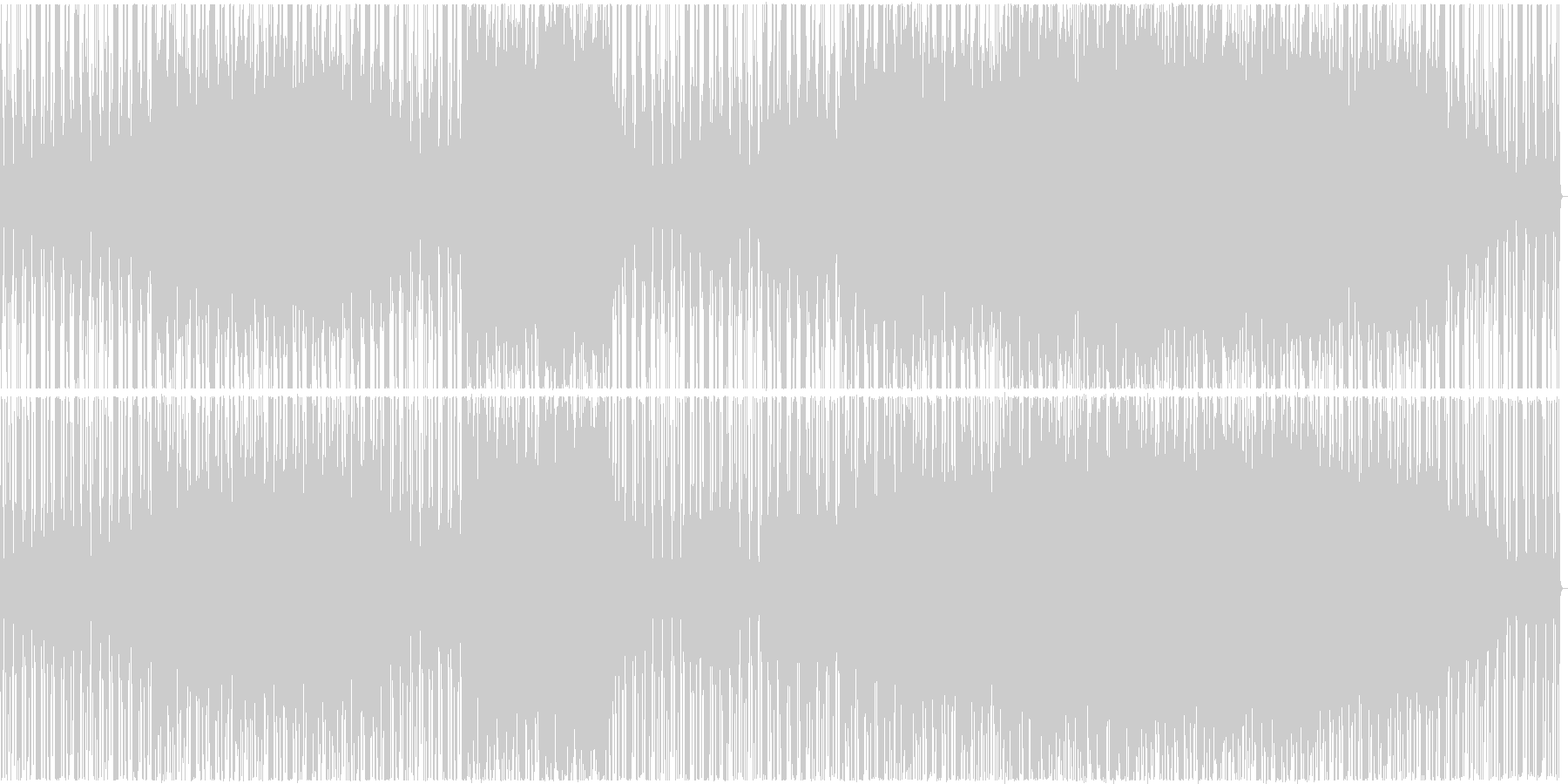 【歌】シンセが印象的女性ボーカルポップスの未再生の波形