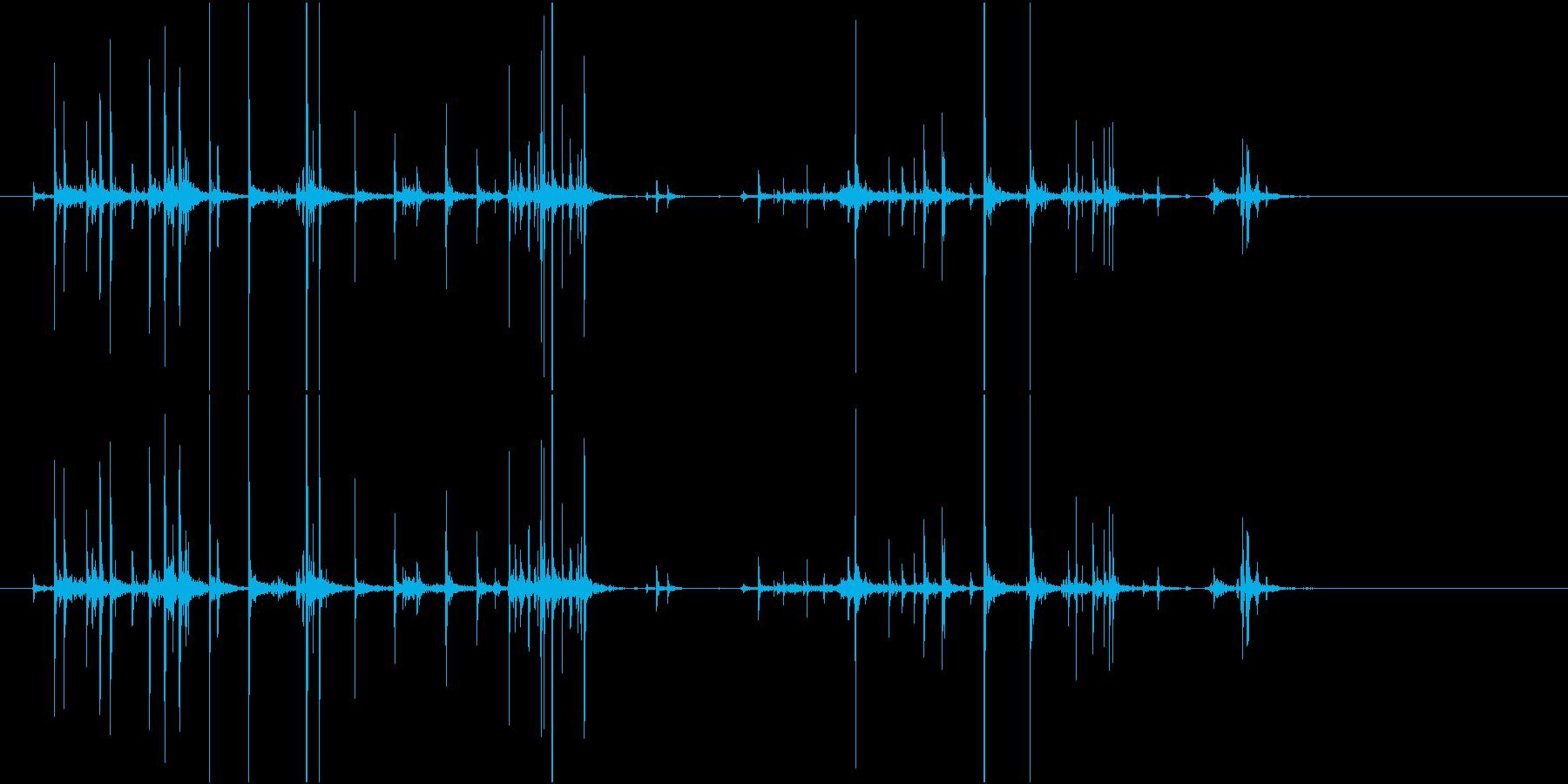 【生録音】お菓子の小袋に手を伸ばす音の再生済みの波形
