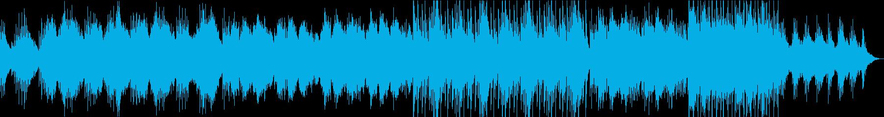 しっとりとした和風の琴と尺八の再生済みの波形