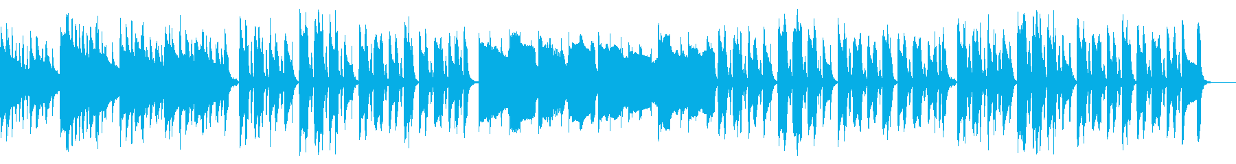 ほのぼのゆるい日常系の曲の再生済みの波形