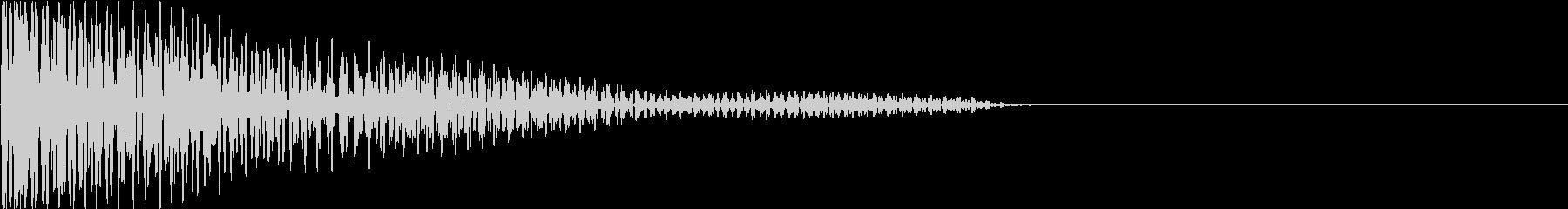 タム 太鼓 一発のみの未再生の波形