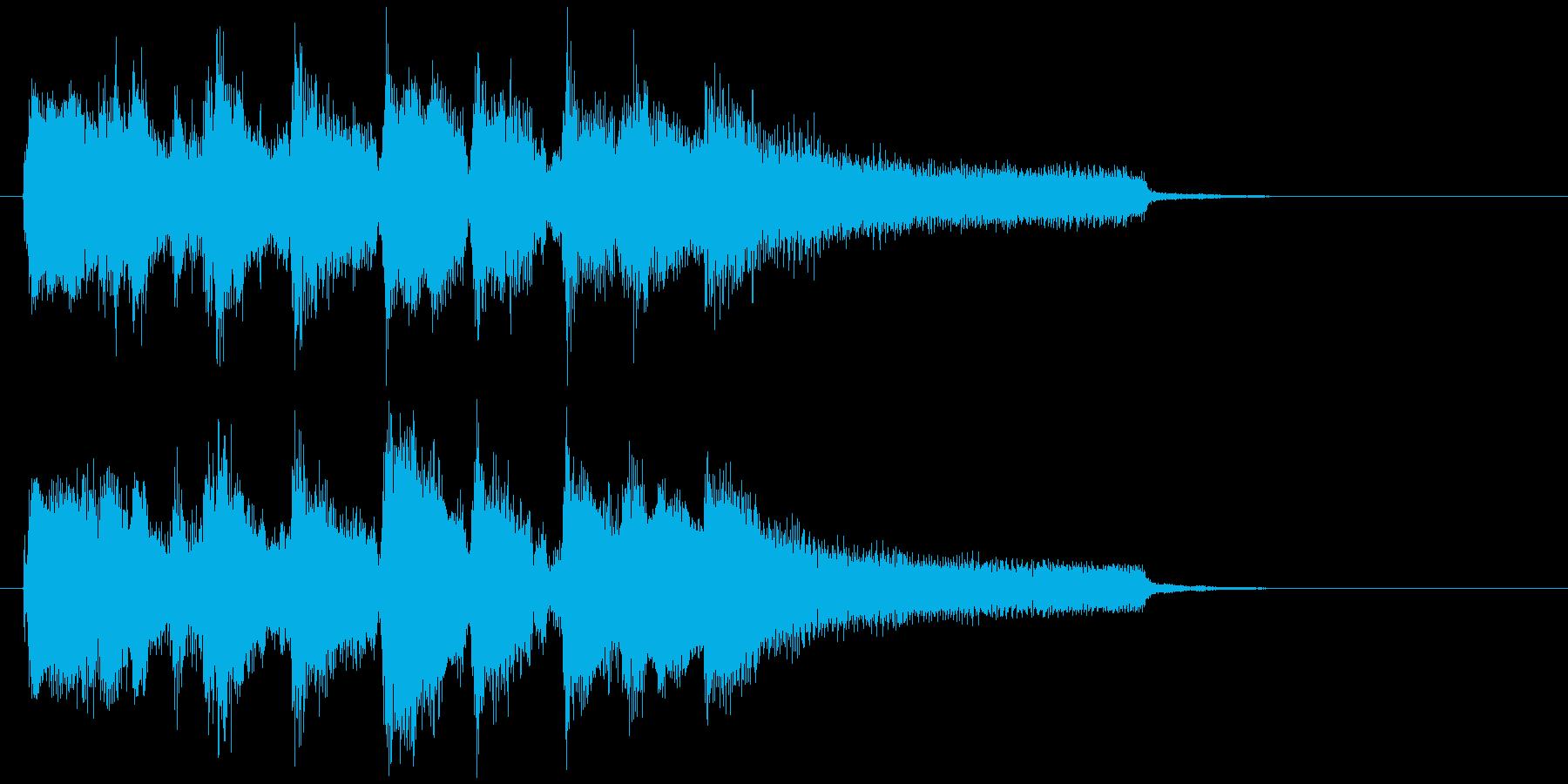 ジャズ・サックス生演奏の爽やかなジングルの再生済みの波形