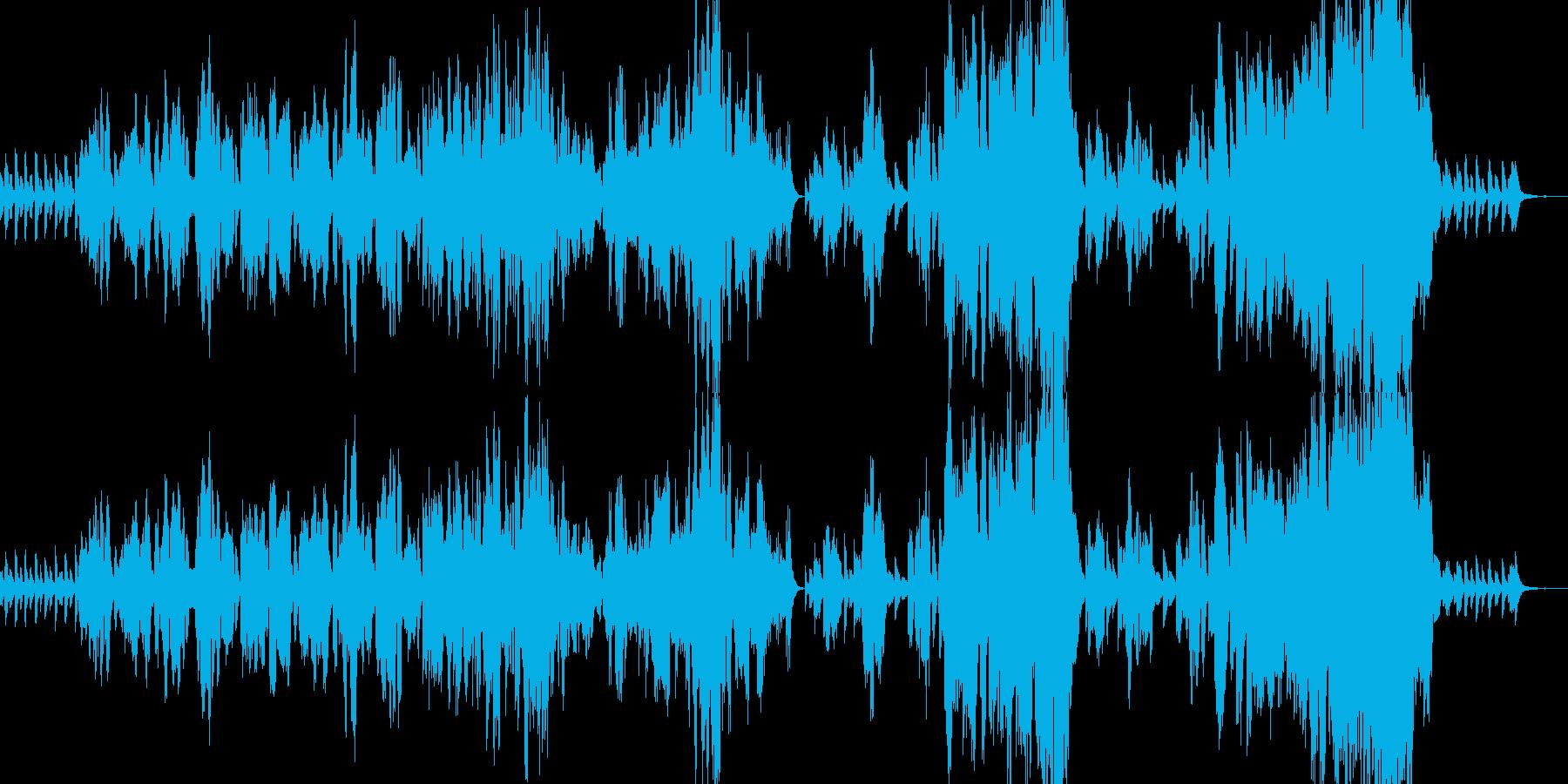 シューベルト「冬の旅」より『流れの上で』の再生済みの波形