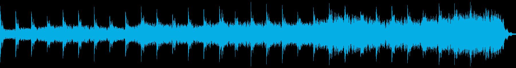暗く怖いピアノのループ曲の再生済みの波形