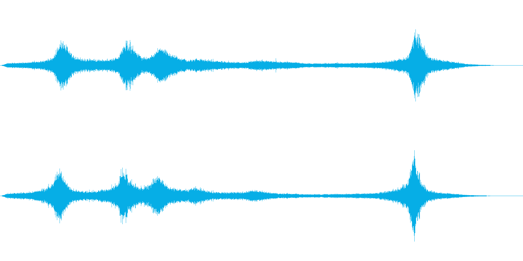 【生録音】 早朝の街 交通 環境音 24の再生済みの波形