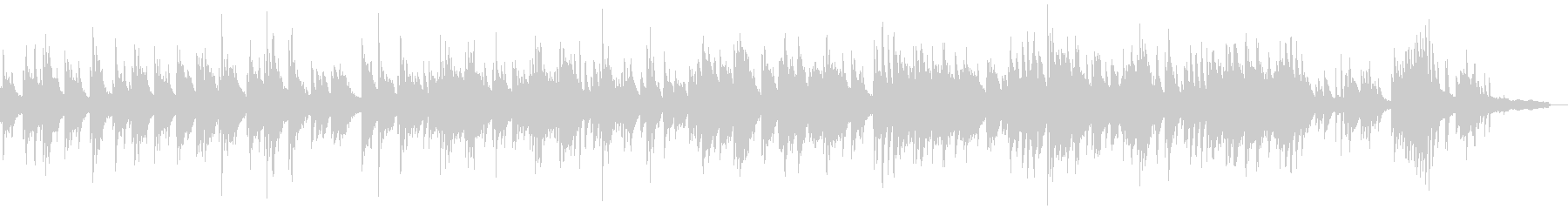 明るくセンチメンタルなピアノソロバラードの未再生の波形