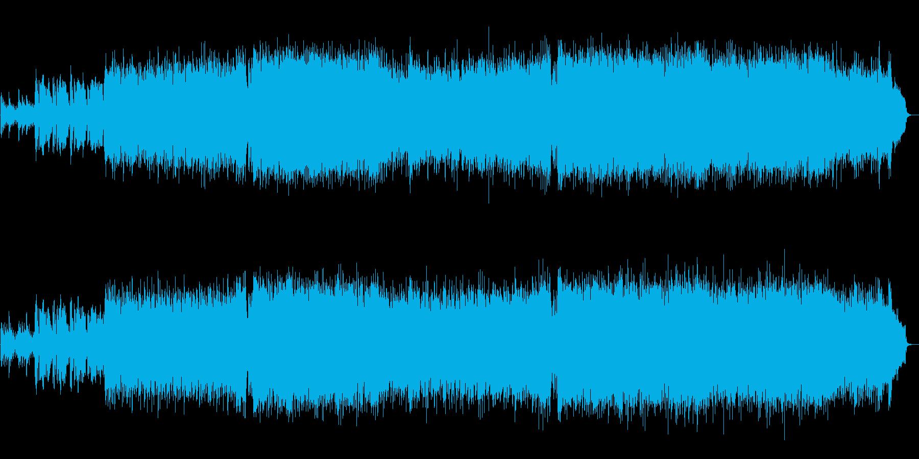 フルートの軽快で明るい好印象テクノポップの再生済みの波形