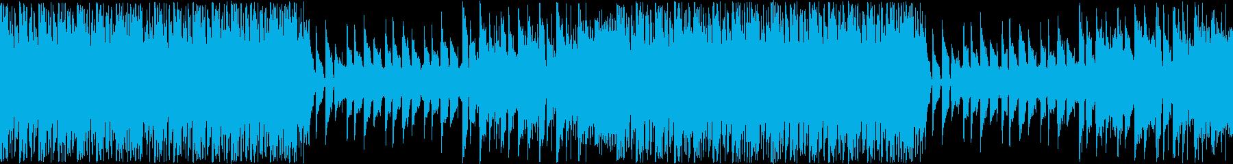 躍動感溢れる軽快なインスト楽曲ループの再生済みの波形