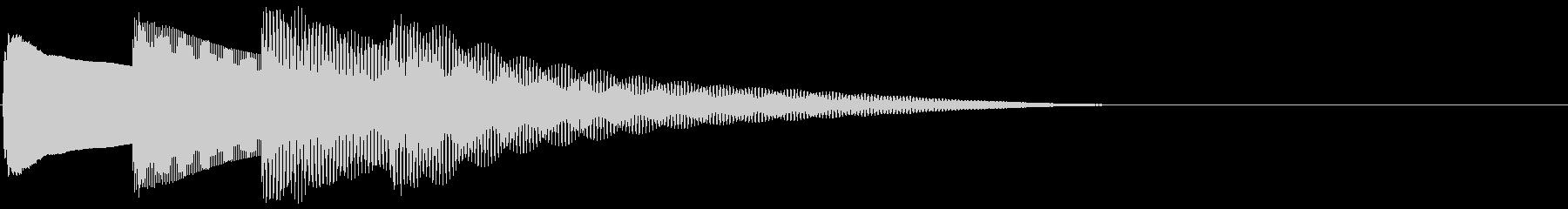 ピンポンパンポン 下降(館内放送終了)の未再生の波形
