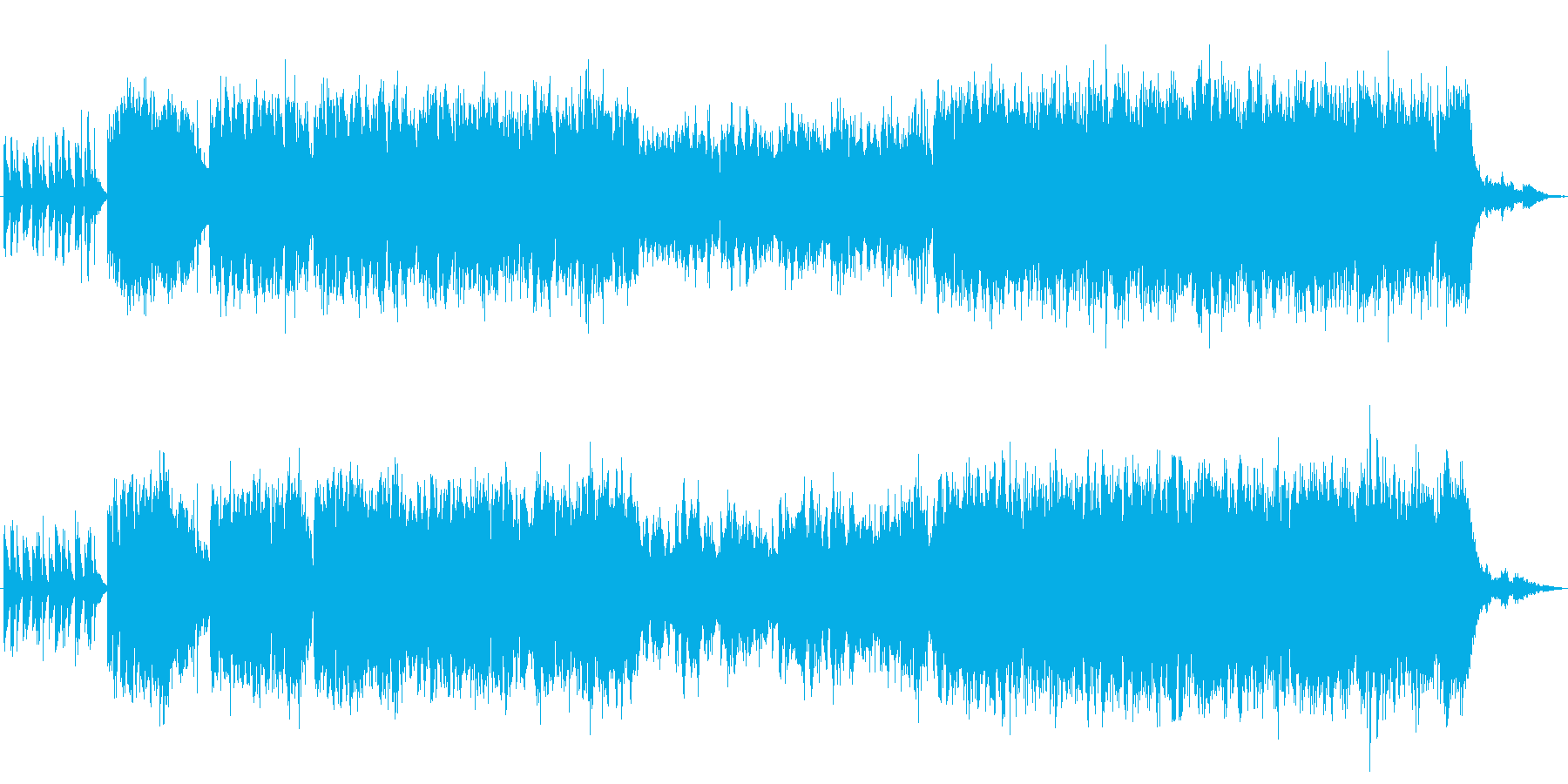 夜の街を駆け抜けるRiderのイメージ…の再生済みの波形
