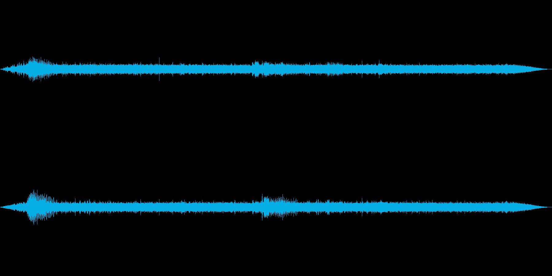 【自然音】渓谷の音(八丈島)の再生済みの波形