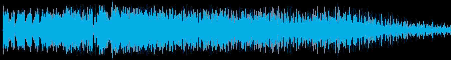 ロケット巻き戻しの再生済みの波形