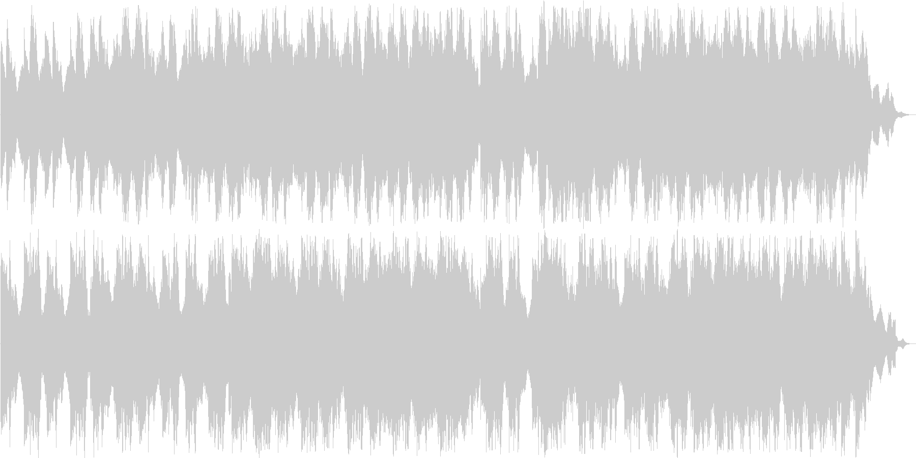 繊細で力強いシンセピアノサウンドの未再生の波形