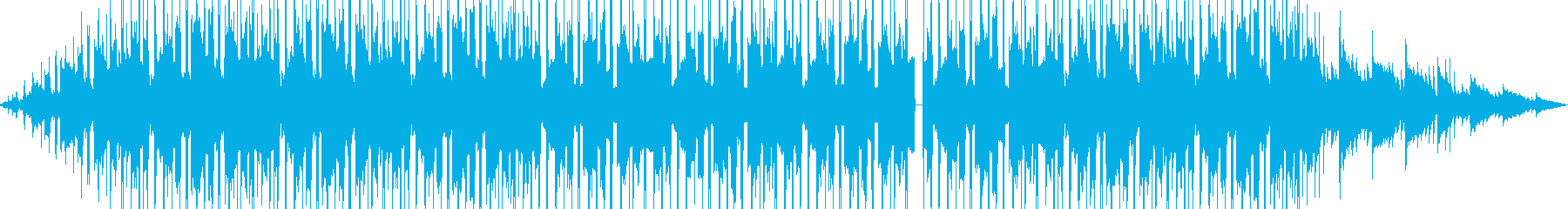 雨の日のLoFIビートの再生済みの波形
