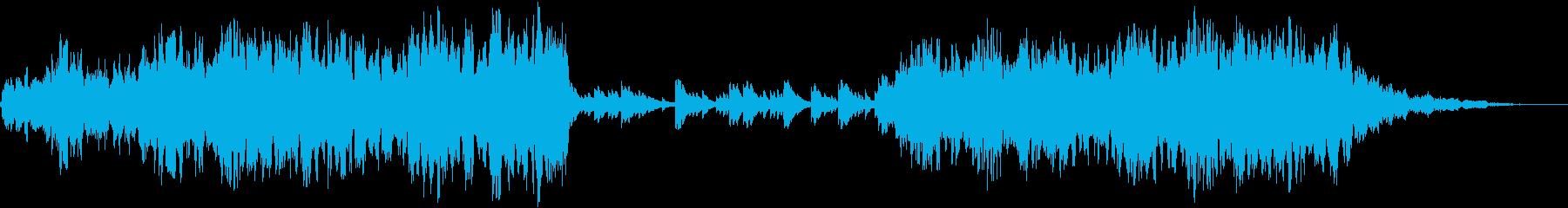 荘厳でドラマティックな幻想音楽の再生済みの波形
