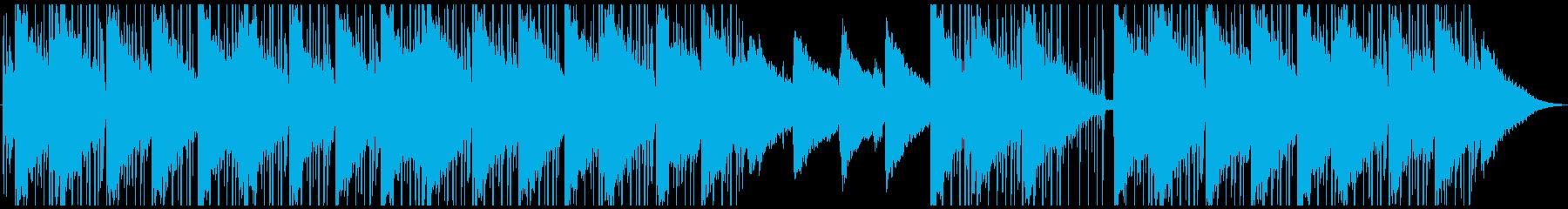 スタイリッシュなローファイヒップホップの再生済みの波形