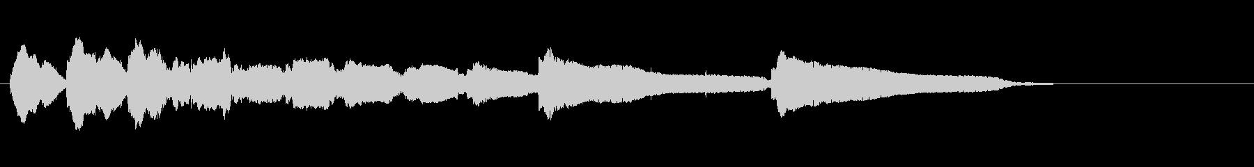 生音エレキギター5弦チューニング3エコーの未再生の波形