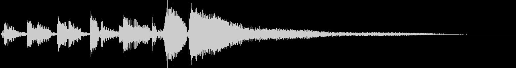 ブルースフレーズを用いたジングル用の未再生の波形