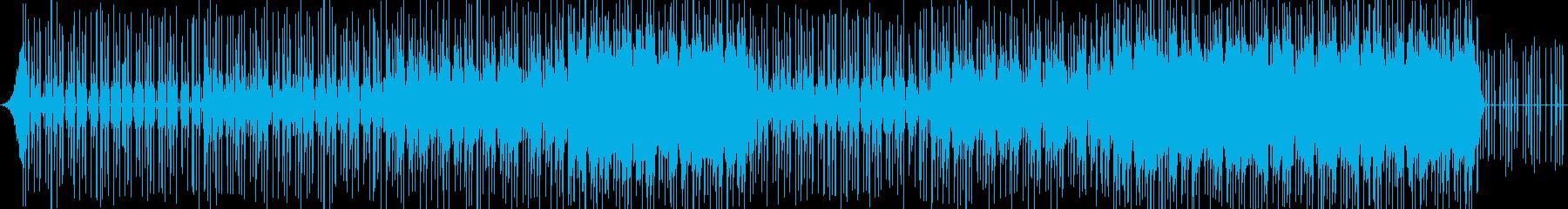 ピコピコ音が印象的なコミカルなBGMの再生済みの波形