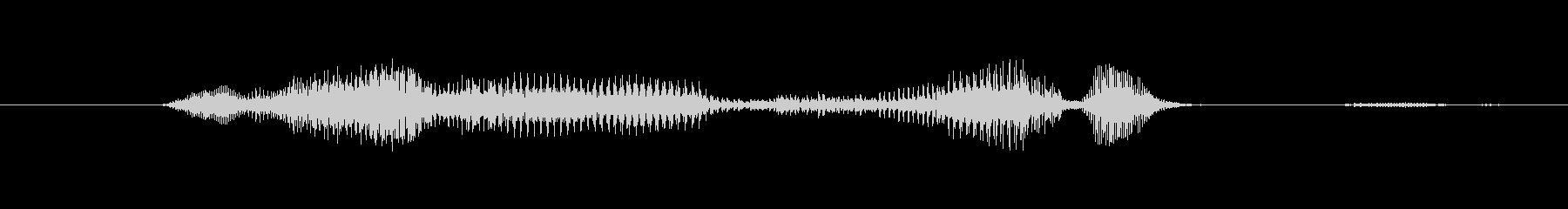 鳴き声 男性の悲鳴の深い痛みロング03の未再生の波形