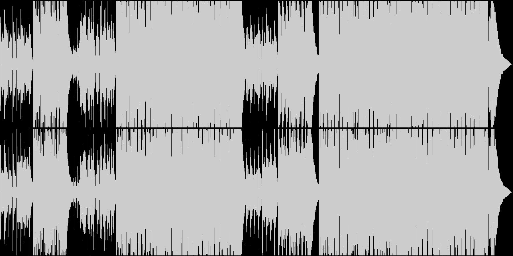 のんびりクラリネットとEギターカントリーの未再生の波形