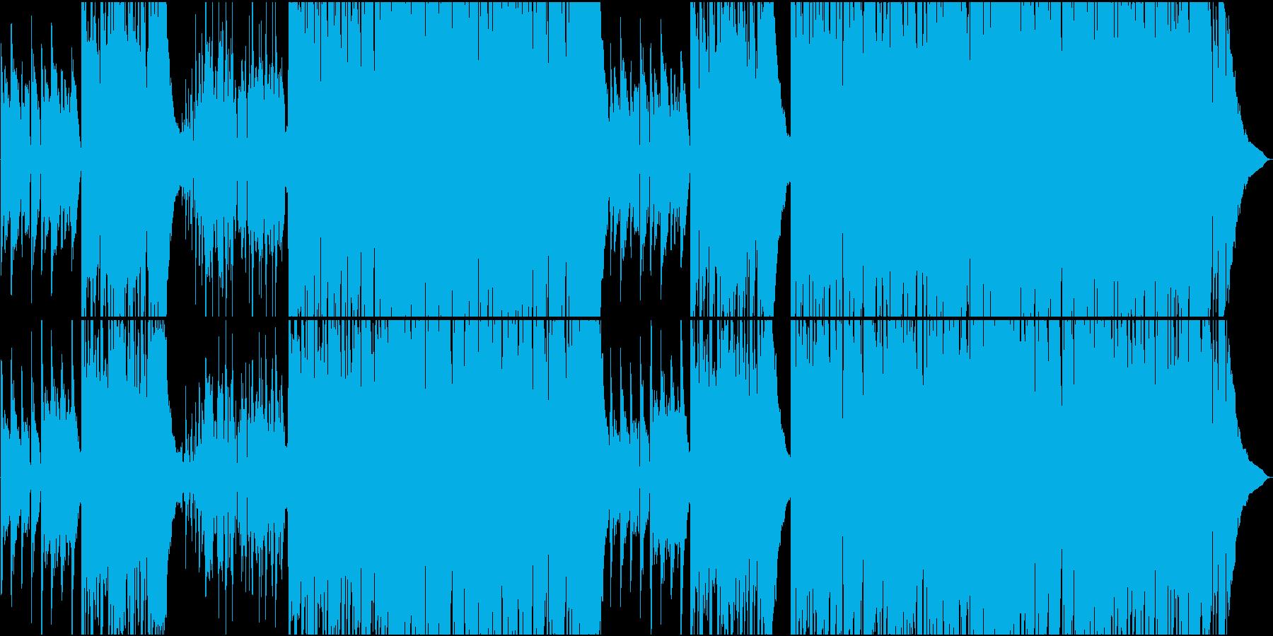 のんびりクラリネットとEギターカントリーの再生済みの波形