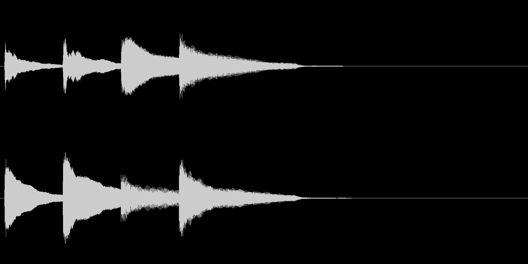 アナウンス後のピンポンパンポン・下降の未再生の波形